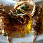 Shish kebab and Shish Tawook (2 of each originally)