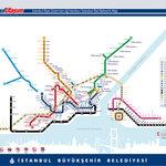 Tram & Metro Map of Istanbul