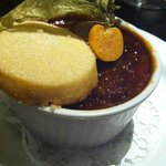 Maple and pecan creme brulee - very good!