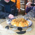 Delicious couscous lunch on terrace