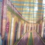 Samadhi Centre - old theatre curtain