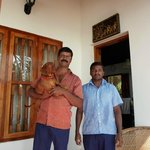 Mr Reddy with Brownie the dachshund and Chandru