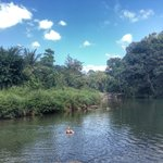 River swim after hike - amazing!