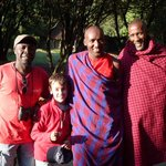 Masai friends at the parking area..