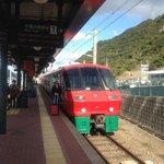 JR Huis Ten Bosch train at station