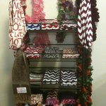 Locally made frilly scarves and infinity scarves.