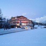 Das Hotel Viktoria im Winter