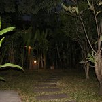 path to our room at night