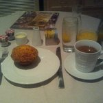 Coffee, juice, and muffin from room service ($31.53!)