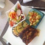 delicious blackened mahi mahi with pineapple salsa! Heavenly!