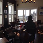 A quiet lunch with a spectacular view. The seafood chowder is amazing
