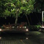 Restaurant, vue sur la plage