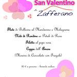 Ed ecco a voi il nostro Menù per la Serata di San Valentino !!! Vi aspettiamo numerosi !