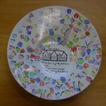 Happy Retirement bowl,each child added their finger print. Lovely keepsake.