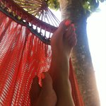 pure relaxation on one of the many hammocks - lazy days