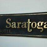 Hotel name at the entrance