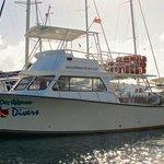 Our 46ft dive boat Endeavour