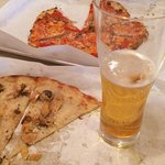 two pizzas, one beer at Frank Pepe