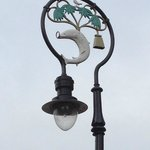 Coat of Arms Lampost - tree, bird, fish and bell