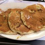 Yummy cinnamon and banana pancakes