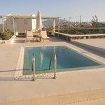 private pool and solarium in suite