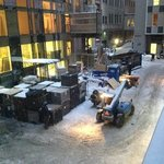 horrible noise from construction in front of my room window