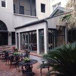 Peacock's patio, Enola Hotel