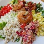Tasty Seafood Cobb salad
