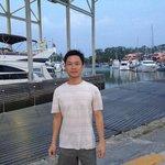 I'm posing around Royal Boat Lagoon