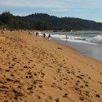 "Bang Niang Beach in front of the ""Mukdara Resort"""