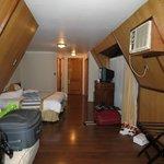 Visão do quarto estilo sótão