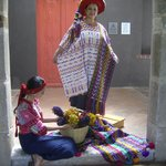 At our luncheon function at the Casa's hilltop site we were welcomed by women in traditional cos