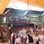 dining area at hilltop site. the food was amazing