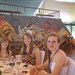 beautiful mural in the hilltop dining area
