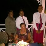 Mum and a few  staff members - after the singing :-)