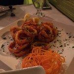 Calamari (great flavor, poor execution)