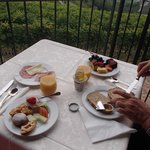 Enjoy breakfast outside if you can