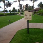 Entering the property from the beachwalk