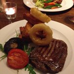 Ribeye steak at Anglers Arms