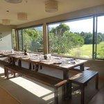 Dining table at Martins Bay Lodge