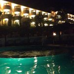 Night time at the pool