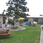 View of the hostel's camping site.