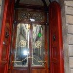 Signature red shutter doors