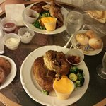 Awesome roast chicken dinner we had from room service one night!