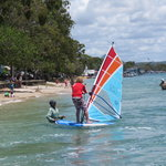 learning to windsurf noosa