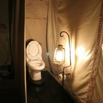 Wonderful Toilet facilities in our tent