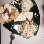Hots Combination Platter. Chicken salad, Mediterranean Slaw, Greek pasta.