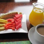 Before breakfast arrives