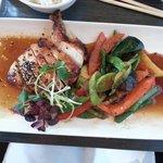 Teriyaki chicken with grilled vegies
