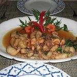 Stir fried fish in Tamarind sauce